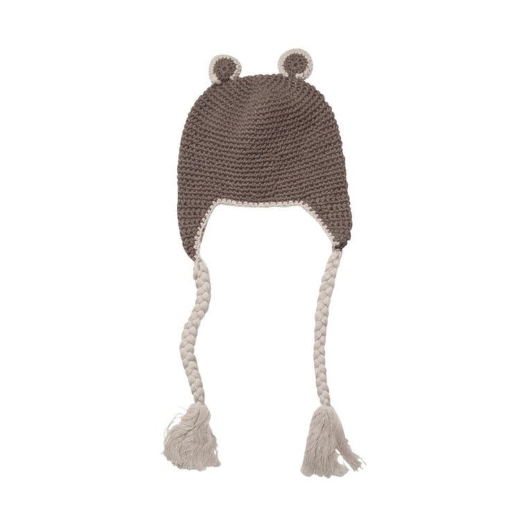 Baby Bear Beanie - Charcoal Grey