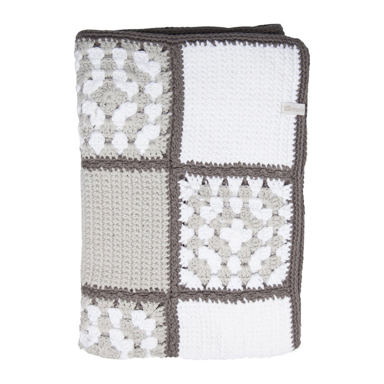 Nanna Knit Crochet Blanket - Neutral