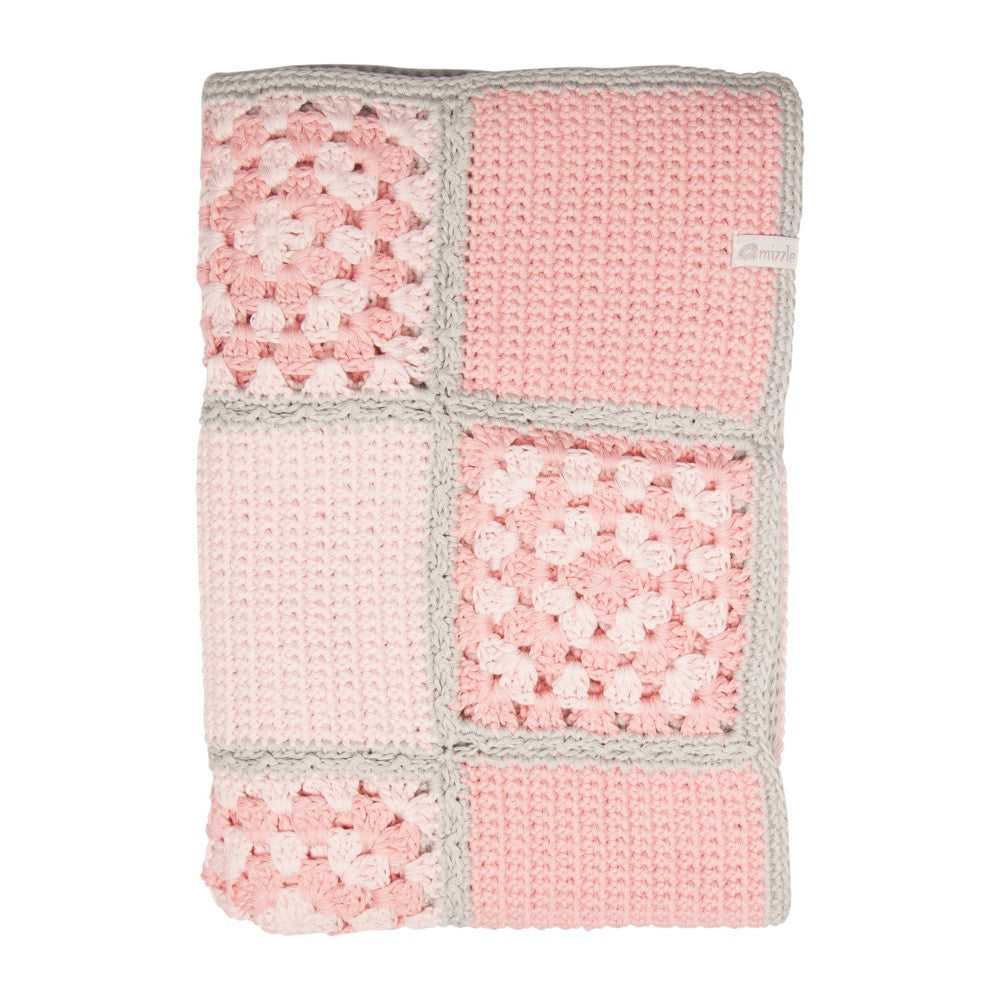 Nanna Knit Crochet Blanket - Pink | Mizzle Baby & Children's Clothing
