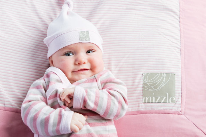 Single Knotted Hat - White | Mizzle Baby & Children's Clothing