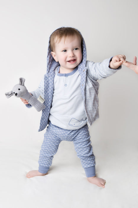 Cuffed Pants - Fish Scale | Mizzle Baby & Children's Clothing