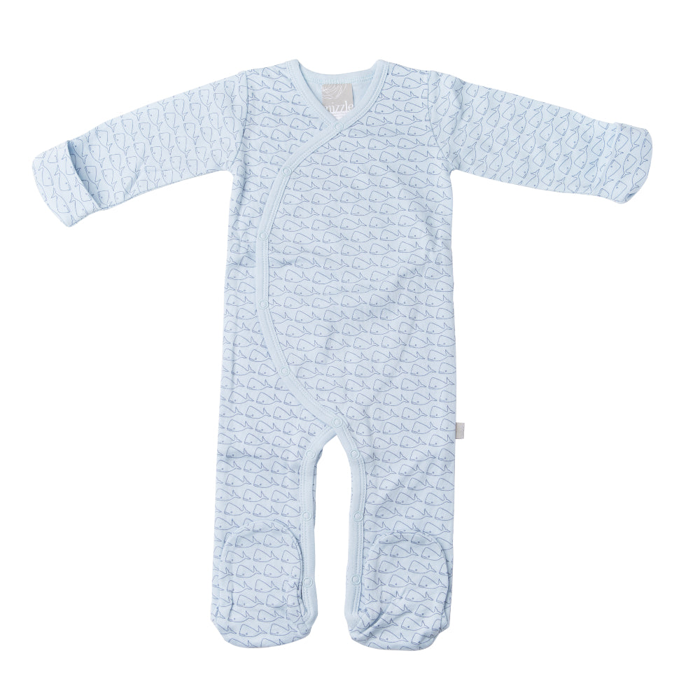 Coverall Romper - Willa Whale | Mizzle Baby & Children's Clothing