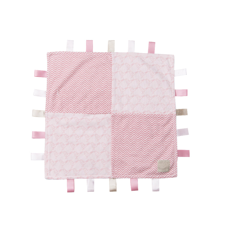 Ribbon Taggie Toy - Bella Bird / Pink Chevron