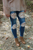 Perfect Fit Crochet Lace Skinny Jeans