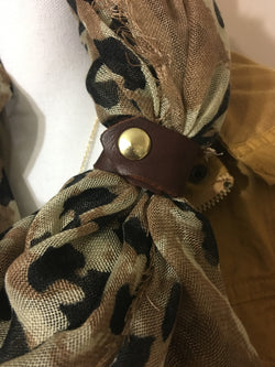 Handmade Leather Scarf Cuff