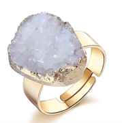 Hermites Druzy & Gold Statement Ring - Marigold Day