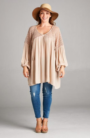 Sandra Tunic with Crochet Detail