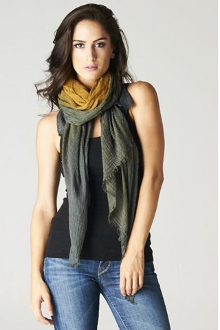 Charcoal & Camel Scarf
