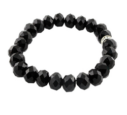 Black Stretch Crystal Bracelet