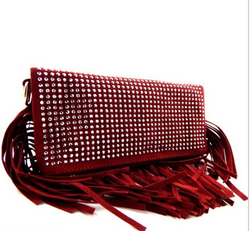 Ruby -Monica Fringe Clutch