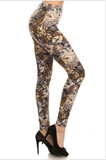 Navy & Olive Floral Leggings