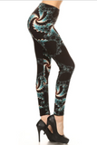 Teal Feather Super Soft Leggings