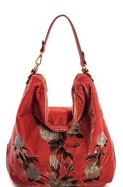Blush Velvet Hobo Crossbody Backpack 3-in-1