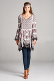 Melissa Rose PLUS Boho Chic Paisley Tunic