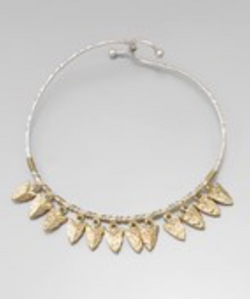Arrowhead Charm Bangle Bracelet