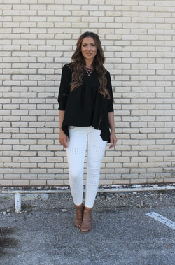 PLUS Boho Criss-Cross Top