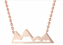 Rose Gold Move Mountains Necklace