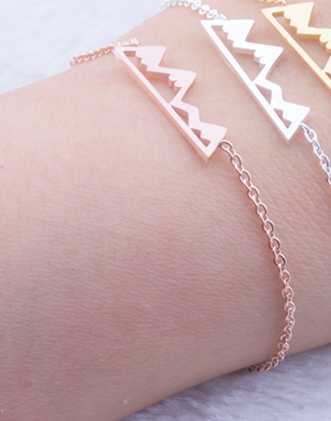 Rose Gold Move Mountains Bracelet