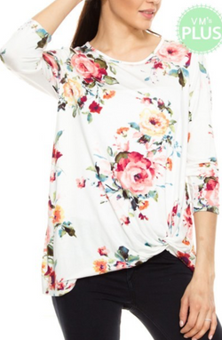 Fiona Plus Floral Top