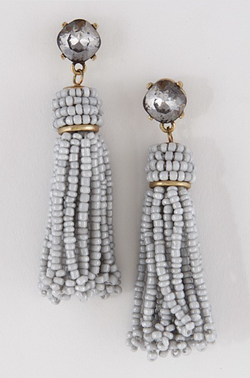 Vintage Greyson Beaded Tassel Earrings