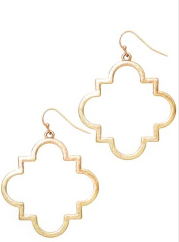 Quatrefoil Gold Earrings