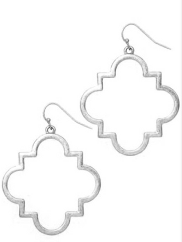 Quatrefoil Silver Earrings