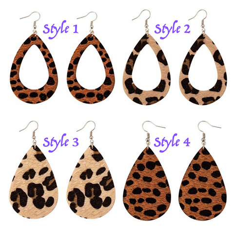Lightweight Faux Leather Earrings