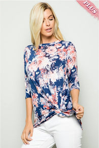 Call Me Spring - Blue Floral Top