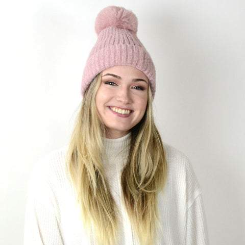 Chenille Pom Pom Hat. This adorable Chenille Pom Pom Hat will keep you warm through all the winter weather. Featuring the softest and coziest material, lined on the inside for extra warmth and the cutest pom pom. This hat makes the perfect gift for family or friends, or even for yourself!