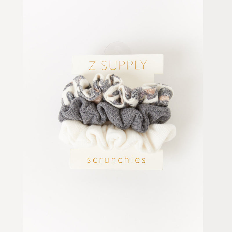 Z Supply 3 Pack Scrunchies (Brushed Leopard Pack)