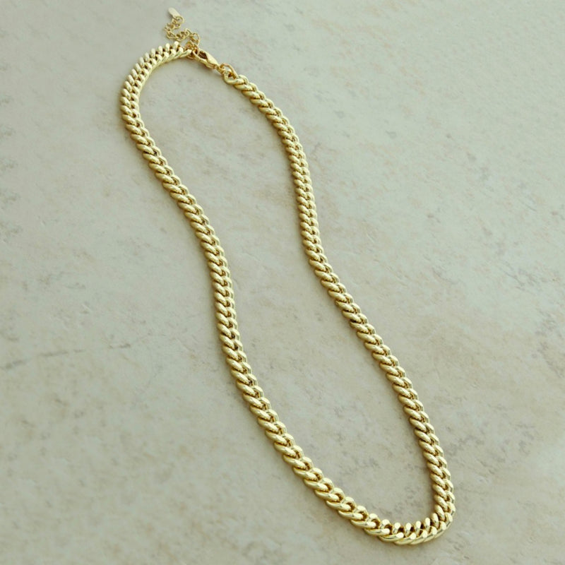 Cuban Curb Chain Necklace. The trendiest necklace yet! This Cuban Curb Chain Necklace is the perfect layering piece or can stand out by itself.