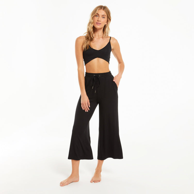 Z Supply Weekend Crop Pant. This pant was made for weekends! The Weekend Terry Crop Pant is our new favorite lounge pant made in our Premium French Terry fabric. The length is great for all heights and has just the right amount of fullness. It looks great as a set with the Chill Terry Crew Tee. Don't forget our tie-dye socks to top of your outfit!