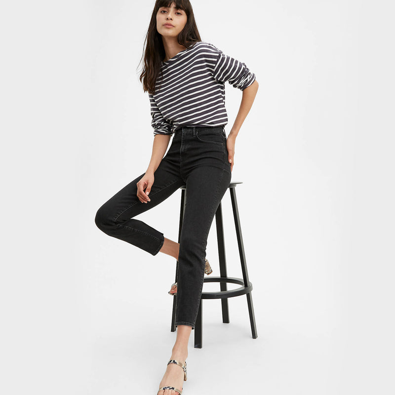 Levi's 724 Hi-Rise Straight Crop Wait A Minute Jeans. We may have just found your new favorite pair of jeans! The Levi's 724 Hi-Rise Straight Crop Wait A Minute Jeans are the most flattering, as they're made with a supportive stretch fabric. You'll be looking your best and feeling your best