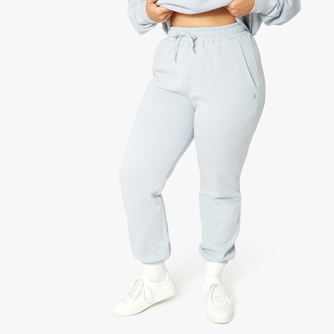 WeWoreWhat High Waisted Sweatpants. A comfortable pull-on jogger in soft-brushed terry fabric, our Sweatpants are a great companion to the matching oversized hoodie. The pair has an elasticized waist with metal-tipped drawstrings and a relaxed silhouette that tapers in at the hem.