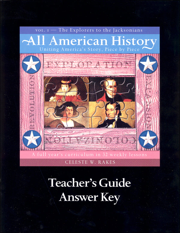 All American History Volume 1 Teachers Guide and Answer Key