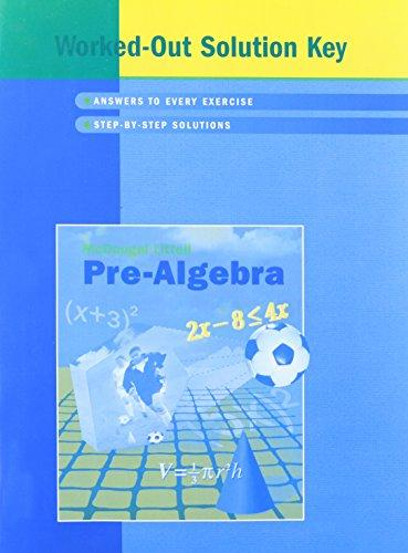 McDougal Littell Pre-Algebra Worked-Out Solution Key