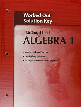 McDougal Littell Algebra 1 Worked-Out Solutions Key (USED)