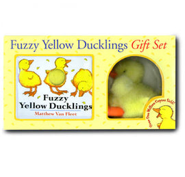 Fuzzy Yellow Ducklings Gift Set (With Plush)