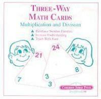 Three Way Math Drill Cards - Multiplication / Division
