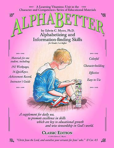ALPHABETTER® Learning Vitamins for Alphabet Mastery and Reference Book Skills