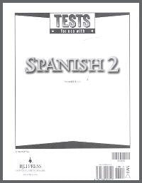 BJU Press Spanish 2 Tests (tests only), 2nd Edition