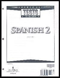 BJU Press Spanish 2 Tests Answer Key, 2nd Edition