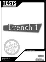 BJU Press French 1 Test Answer Key 2ed