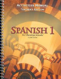 BJU Press Spanish 1 Student Activities Manual Teacher's Edition