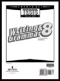 BJU Press Writing & Grammar 8 Tests Answer Key, 3rd Ed.