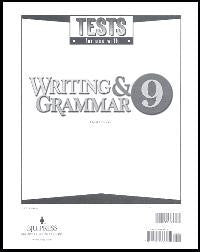 BJU Press Writing & Grammar 9 Tests (3ed)