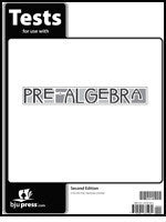BJU Press Pre-Algebra Tests 2nd ed