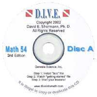 D.I.V.E. CD's - Saxon Math 54 (2nd Edition)