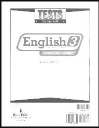 BJU Press English 3 Tests (2ed)