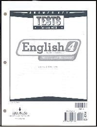 BJU Press English 4 Test Answer Keys (2ed)